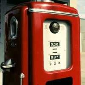 Old Fashioned Petrol Pump