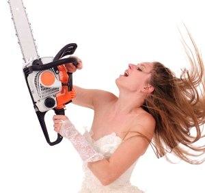 Chainsaw Operator with Wrong Safety Equipment