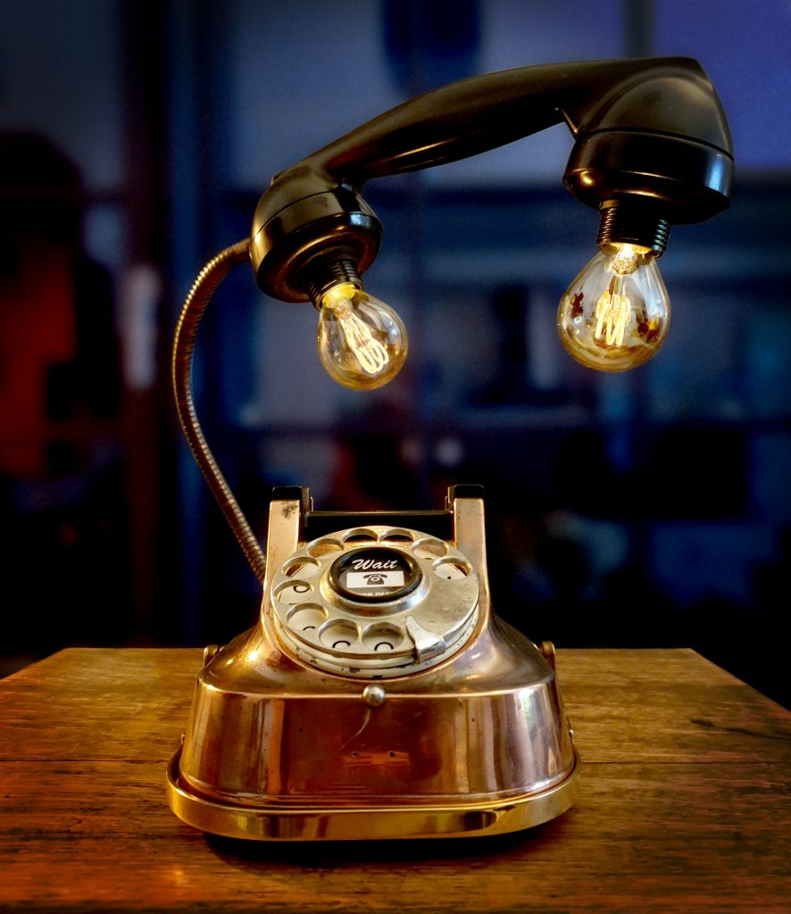 Gifts for Engineers - Steampunk Telephone Lamp
